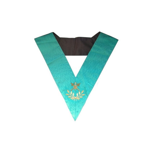 Masonic Officer's collar – Groussier French Rite – Master of Ceremonies – Machine embroidery - Regalialodge
