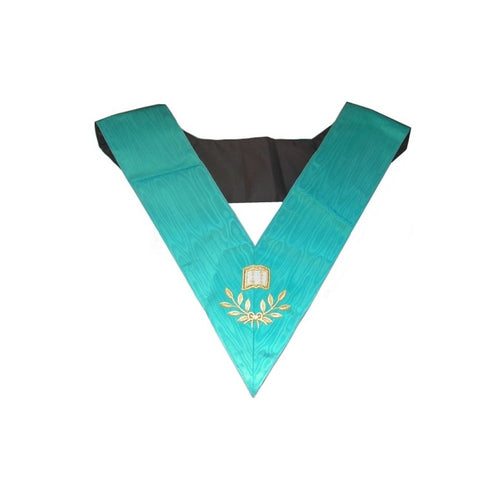 Masonic Officer's collar – Groussier French Rite – Orator – Machine embroidery - Regalialodge