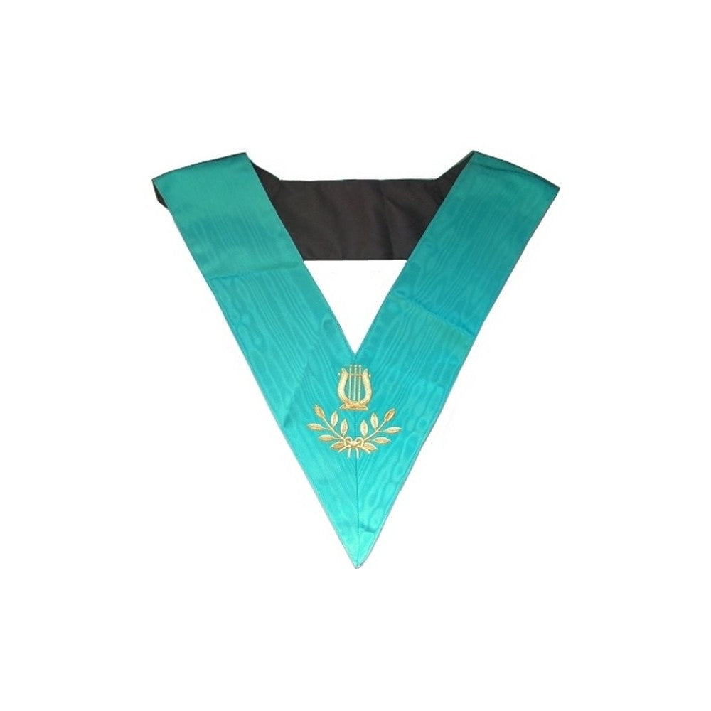 Masonic Officer's collar – Groussier French Rite – Organist – Machine embroidery - Regalialodge
