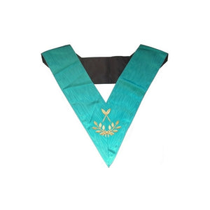 Masonic Officer's collar – Groussier French Rite – Secretary – Machine embroidery - Regalialodge