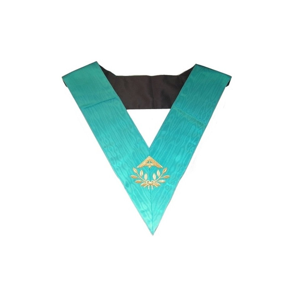 Masonic Officer's collar – Groussier French Rite – Senior Warden – Machine embroidery - Regalialodge