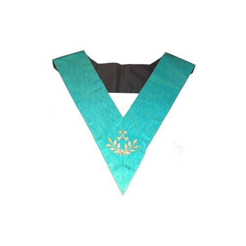 Masonic Officer's collar – Groussier French Rite – Treasurer – Machine embroidery - Regalialodge