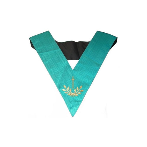 Masonic Officer's collar – Groussier French Rite – Tyler – Machine embroidery - Regalialodge