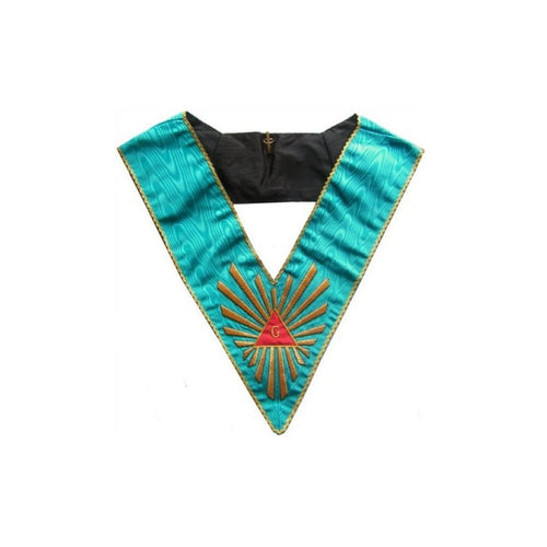 Masonic Officer's collar – Worshipful Master – Groussier French Rite – Grand Glory – Hand embroidery - Regalialodge