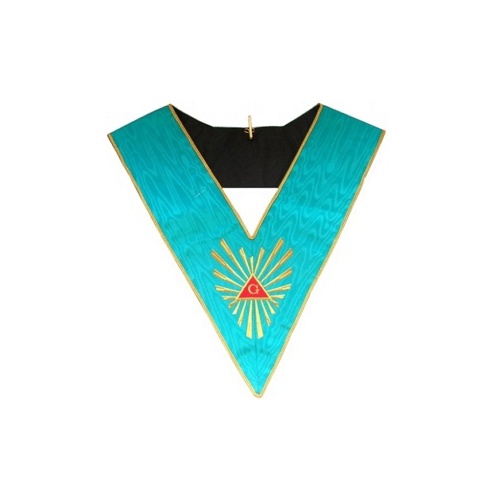 Masonic Officer's collar – Worshipful Master – Groussier French Rite – Grand Glory – Machine embroidery - Regalialodge