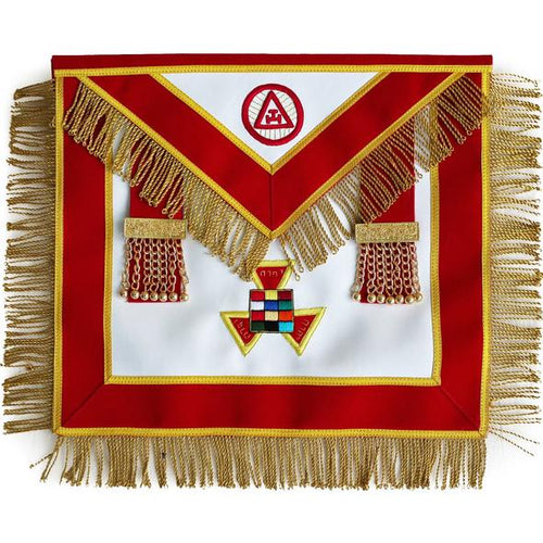 Masonic Royal Arch Past High Priest Apron PHP with Tassels Hand Embroidered - Regalialodge