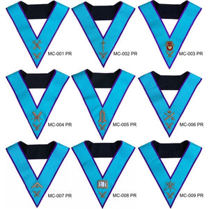 Masonic Memphis Misraim Officer Collars Hand Embroidered - Regalialodge