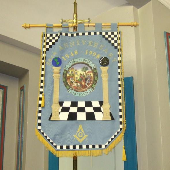 Machine Made Embroidery Masonic Banners - Regalialodge