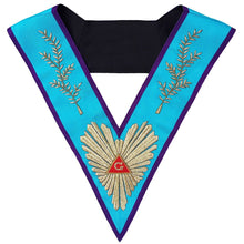 Load image into Gallery viewer, Masonic Memphis Misraim Worshipful Master Collar Hand Embroidered - Regalialodge
