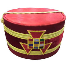Load image into Gallery viewer, Royal Arch Past High Priest PHP Emblem Cap Red - Regalialodge
