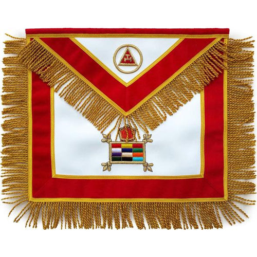 Masonic Massachusetts Chapter Apron Hand Embroidered - Regalialodge