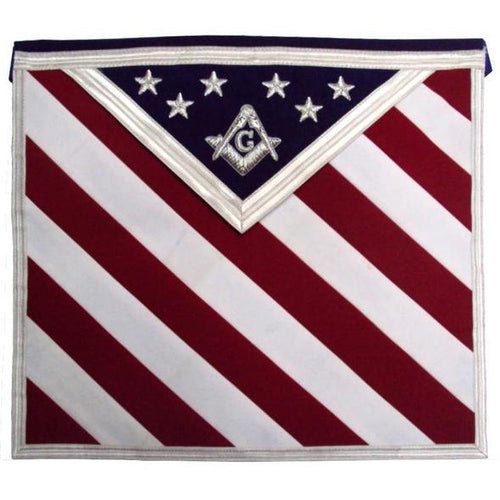 Hand Embroidered U.S Master Mason Masonic Apron - Regalialodge