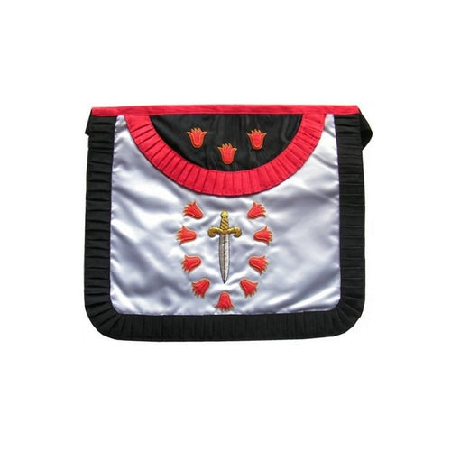 Satin Masonic apron – French Chapter – 1st Order – Rounded angles - Regalialodge