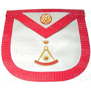 Satin Masonic apron – French Chapter – 2nd Order – Compass – Rounded corners - Regalialodge