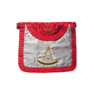 Satin Masonic apron – French Chapter – 2nd Order – Rounded angles - Regalialodge