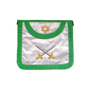 Satin Masonic apron – French Chapter – 3rd Order – Crossed swords - Regalialodge