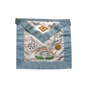Satin Masonic apron – Traditional French Rite – Master Mason 2 - Regalialodge