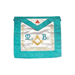 Satin Masonic apron – Worshipful Master – Groussier French Rite – Mourning back - Regalialodge