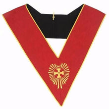 Load image into Gallery viewer, Masonic AASR collar 18th degree - Knight Rose Croix - Head Chapter - Regalialodge