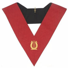 Load image into Gallery viewer, Masonic AASR collar 18th degree - Knight Rose Croix - Musician - Regalialodge
