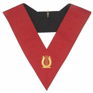 Masonic AASR collar 18th degree - Knight Rose Croix - Musician - Regalialodge