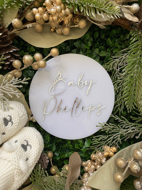 Acrylic pregnancy announcement plaque - frosted