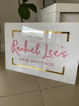 Square or rectangle acrylic signage | custom designs