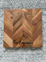 Herringbone serving board