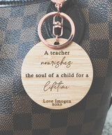 Teacher / educator keyring