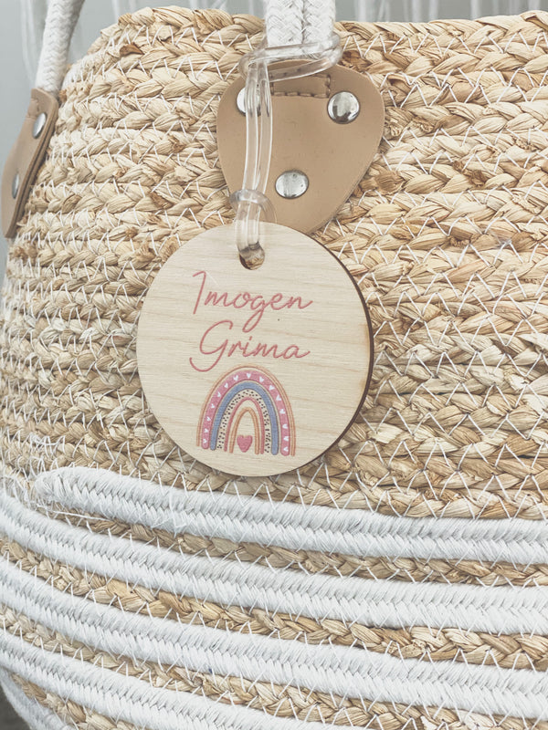 Wooden bag tag - various designs