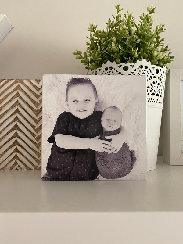 Stone photo block - 12cm