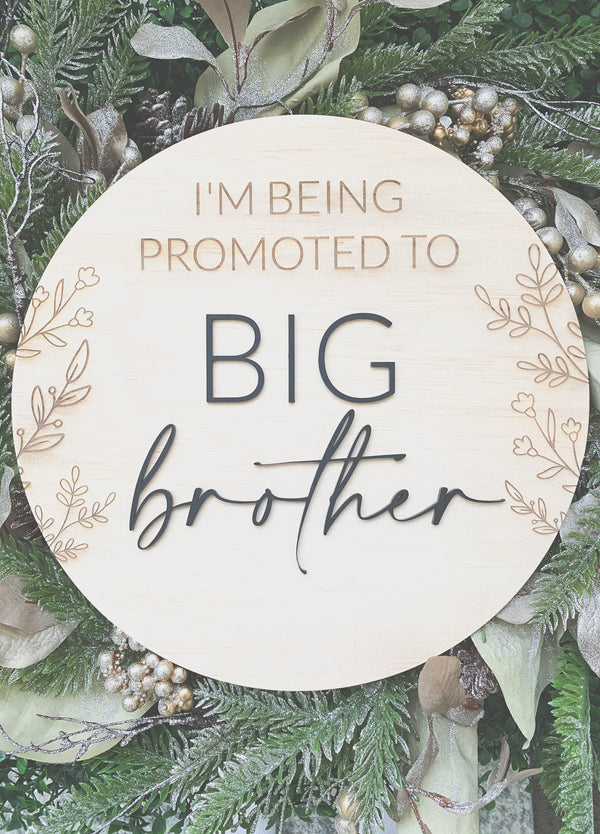 Promoted to big brother / sister plaque