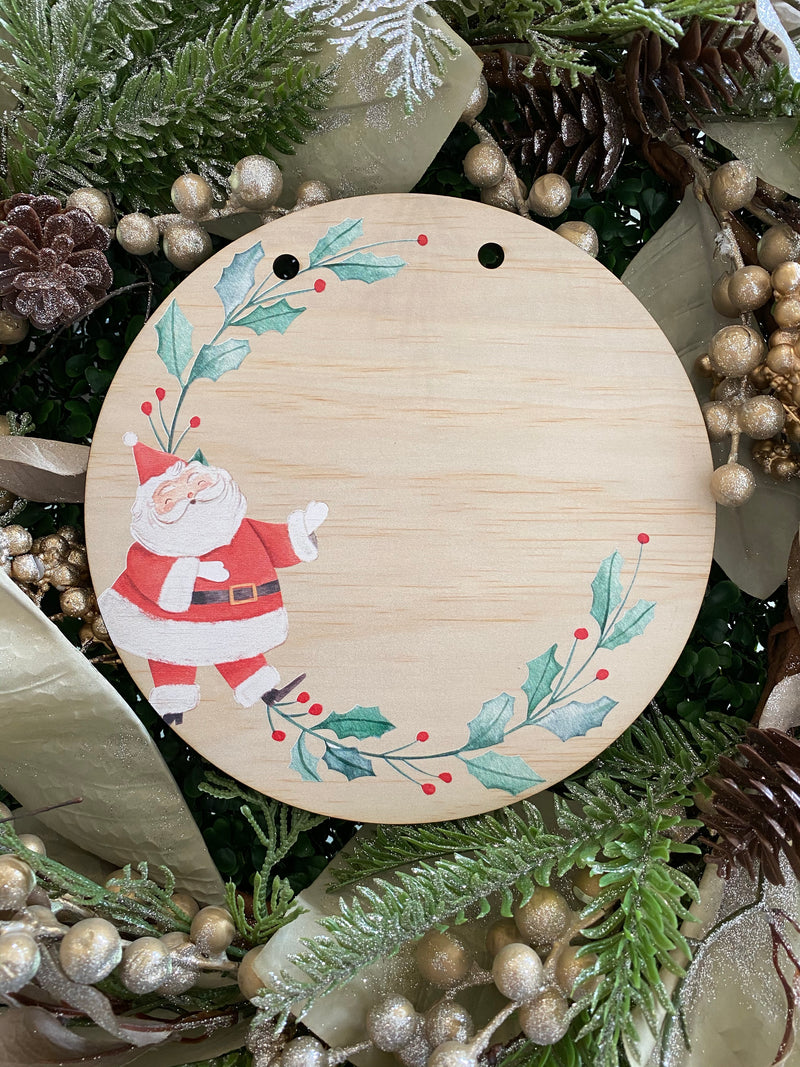Christmas printed plaque - design your own, your choice of engraving