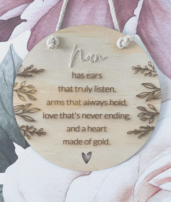 Mother's Day timber plaque with poem