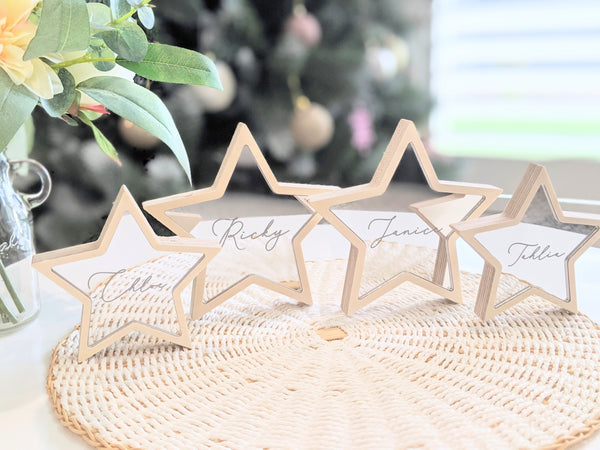 Personalised freestanding Christmas Star