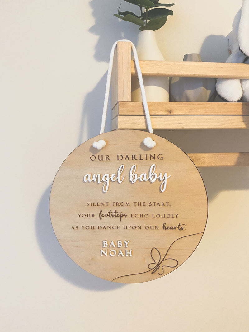 Angel baby memorial plaque