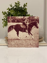 Timber photo block 12cm