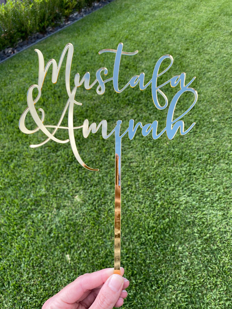 Acrylic or wooden cake topper - personalised