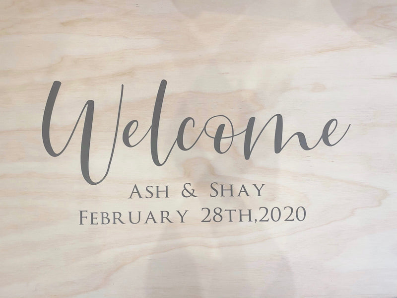"""Welcome"" wedding signage - DIY - vinyl decal only"