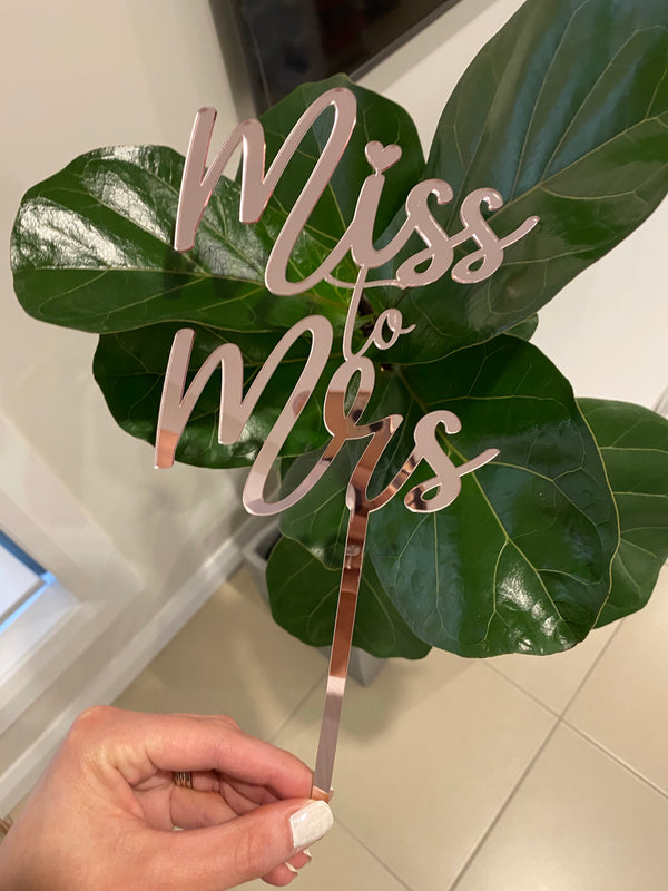 Acrylic or wooden cake topper - your choice of wording