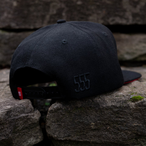 "The ""Blackout"" Red Bottom Snapback"