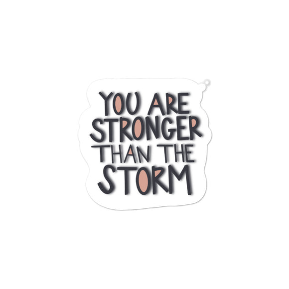 You are Stronger than the Storm Doodle | Sticker