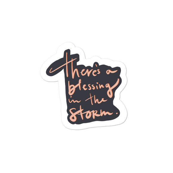 Blessing in the Storm | Sticker