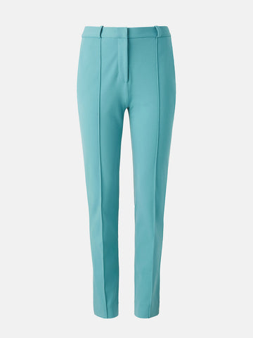 James Stretch-crepe Straight Pants in Slate Blue