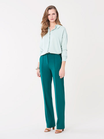Pleat Front Pants in Pine