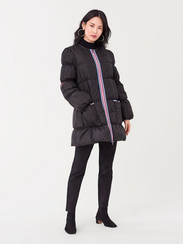 Long Puffer Jacket in Black