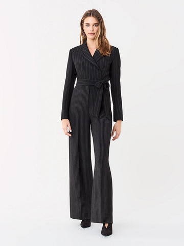Monica Jumpsuit in Black/Ivory