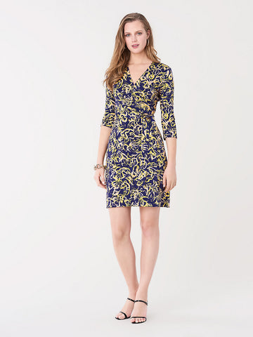 New Julian Two Silk-jersey Wrap Dress in Blockprint Aura