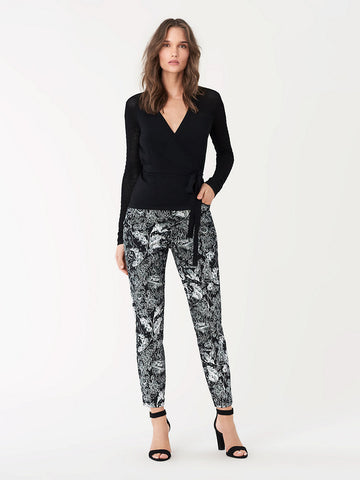 Luca Stretch-twill Cropped Skinny Pants in Tattoo Black