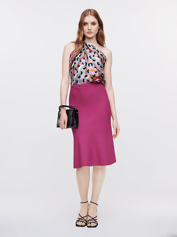 Marion Stretch-milano Skirt in Empress